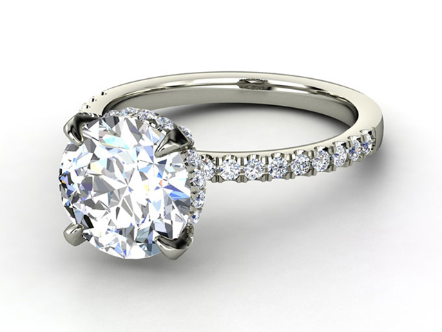 real diamond wedding rings