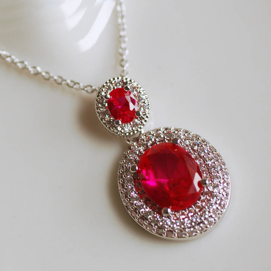 kjl products red ruby necklace kennethjaylane com collections strawberry
