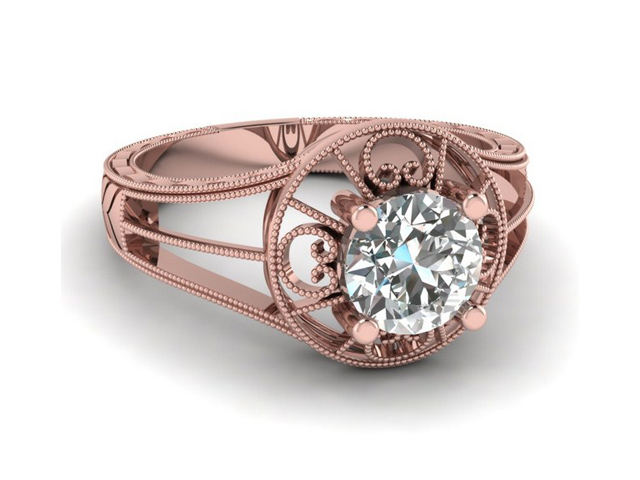 rose gold tacori engagement rings