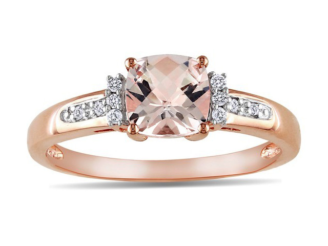 rose gold with pink diamond engagement rings