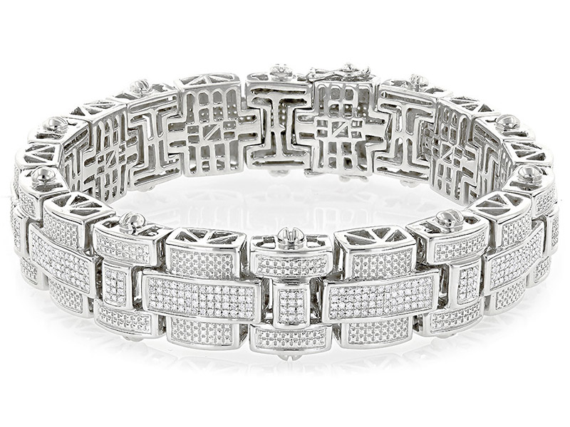 silver and diamond bracelets
