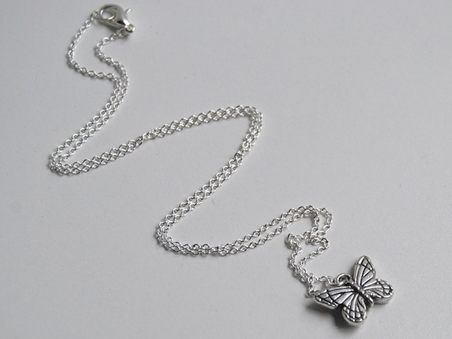 silver butterfly necklace