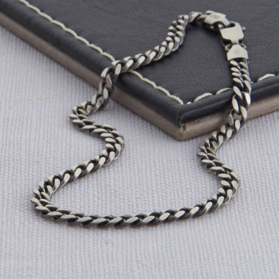 silver men's necklace