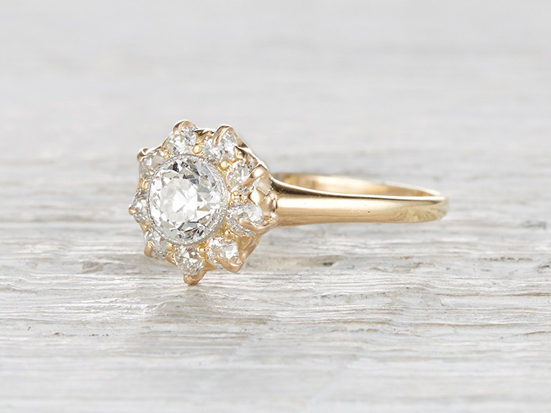 simple antique engagement rings