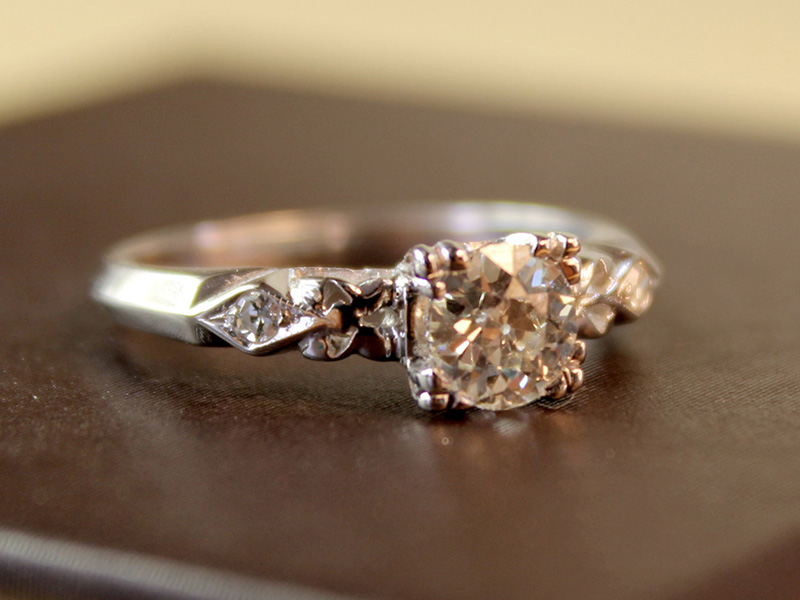 simple vintage engagement rings