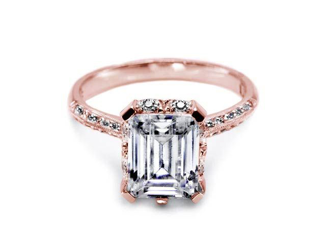 tacori engagement rings rose gold