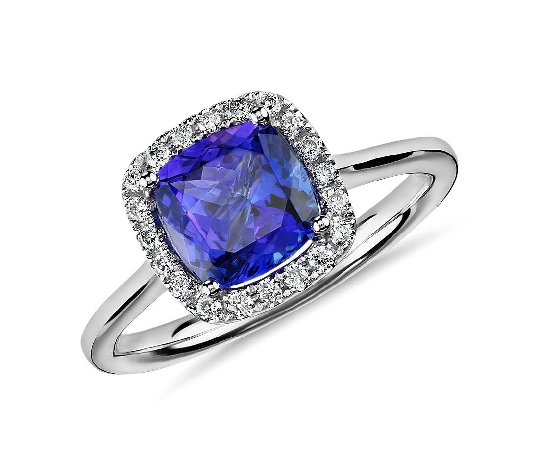 tanzanite rings white gold