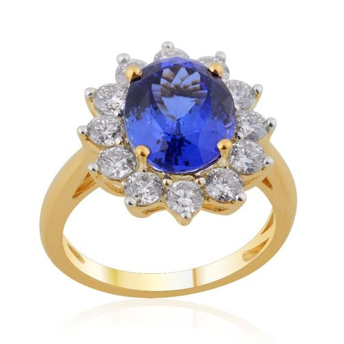 tanzanite rings yellow gold