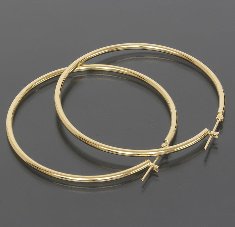 White Gold Hoop Earrings Thin