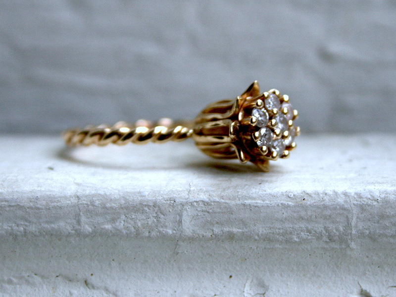 unique antique engagement rings