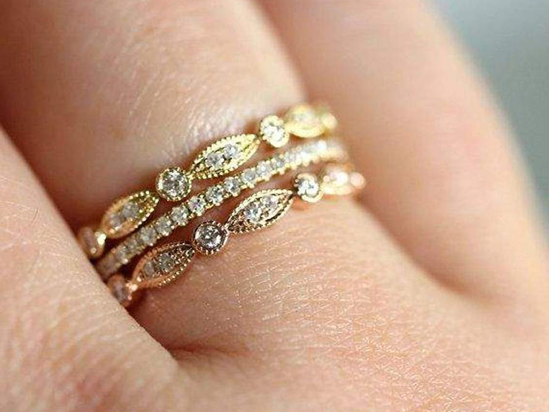 unique diamond promise gold engagement prong anniversary jewellery il pave set wedding rose micro delicate birthstone bridal dainty rings yellow ring