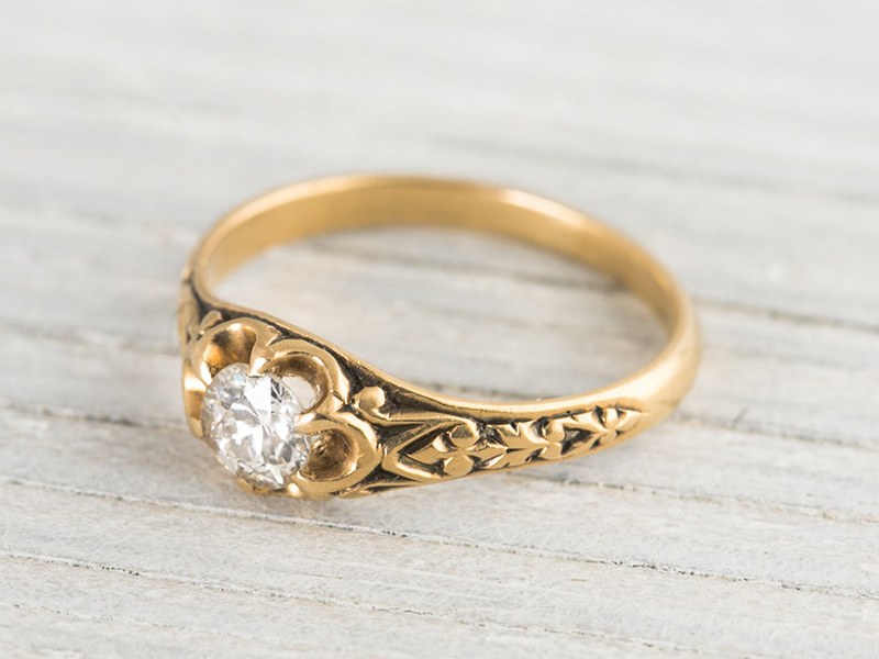 victorian antique engagement rings