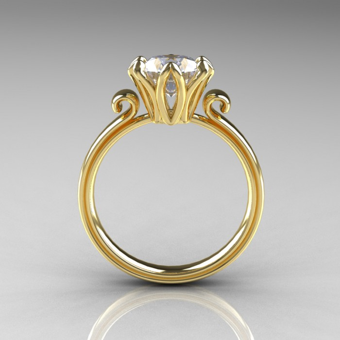 yellow gold vintage engagement rings vintage engagement rings gold ...