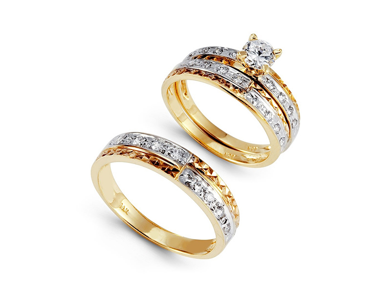 wedding rings sets for him and her