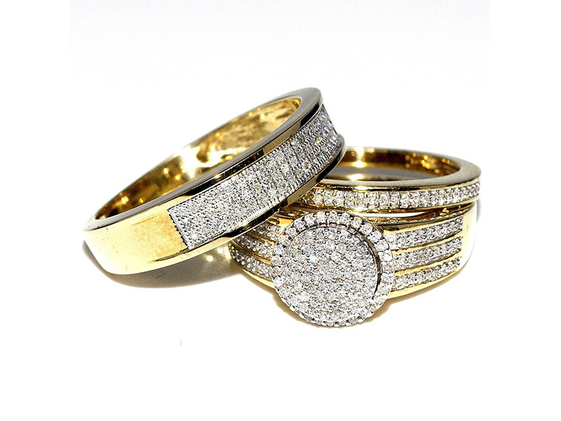 wedding rings sets his and hers
