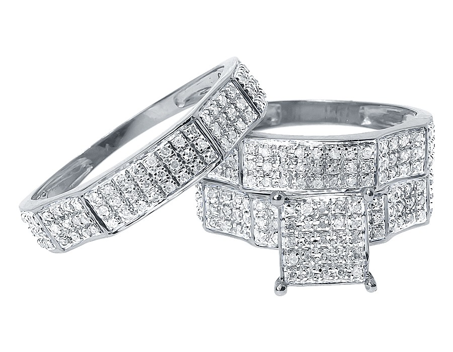 wedding rings sets white gold