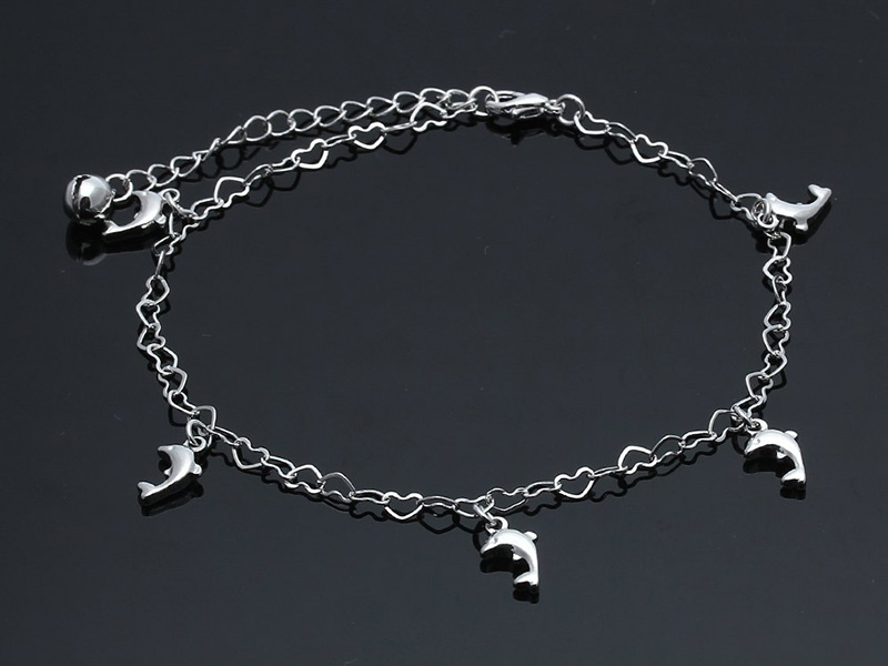 white gold ankle bracelets