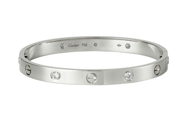 white gold bangle bracelets