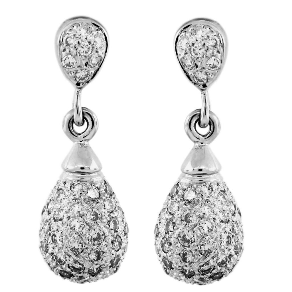 white gold dangle earrings