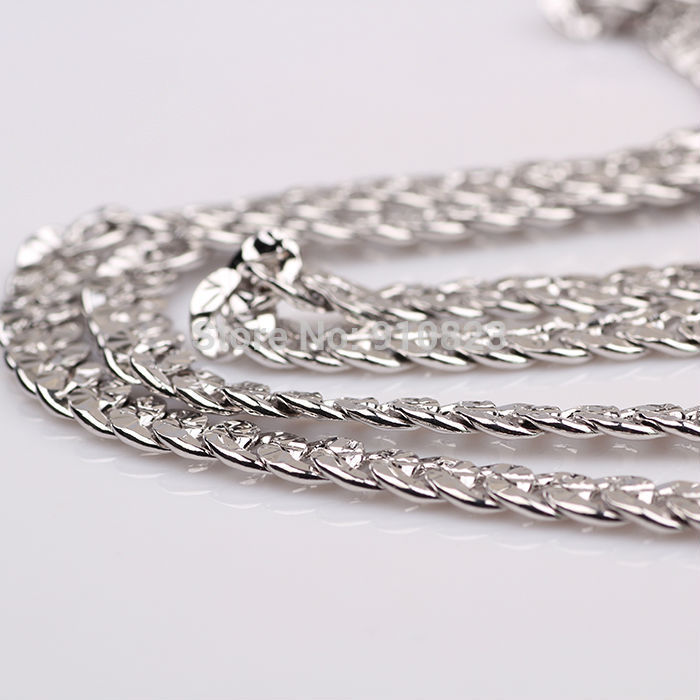 white gold men's necklace