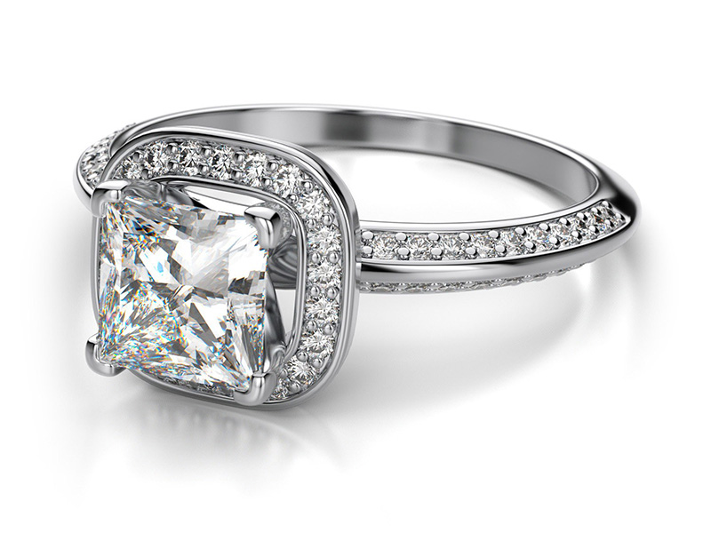 white gold princess cut engagement rings