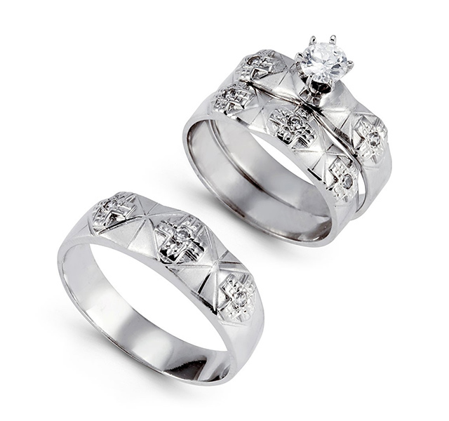 white gold wedding rings sets