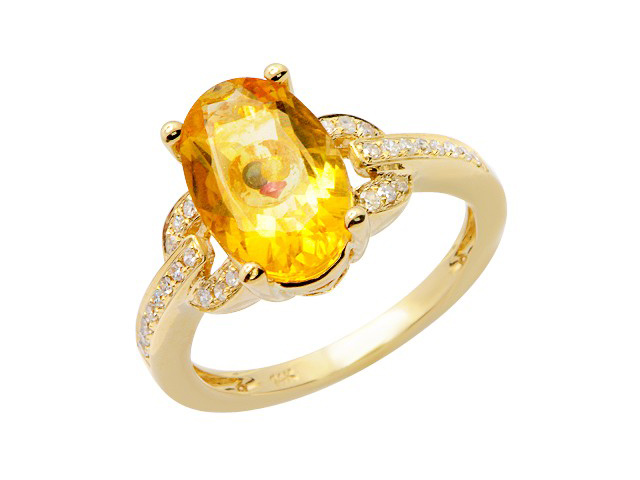 yellow gemstone rings