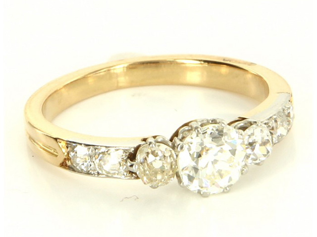 yellow gold antique engagement rings