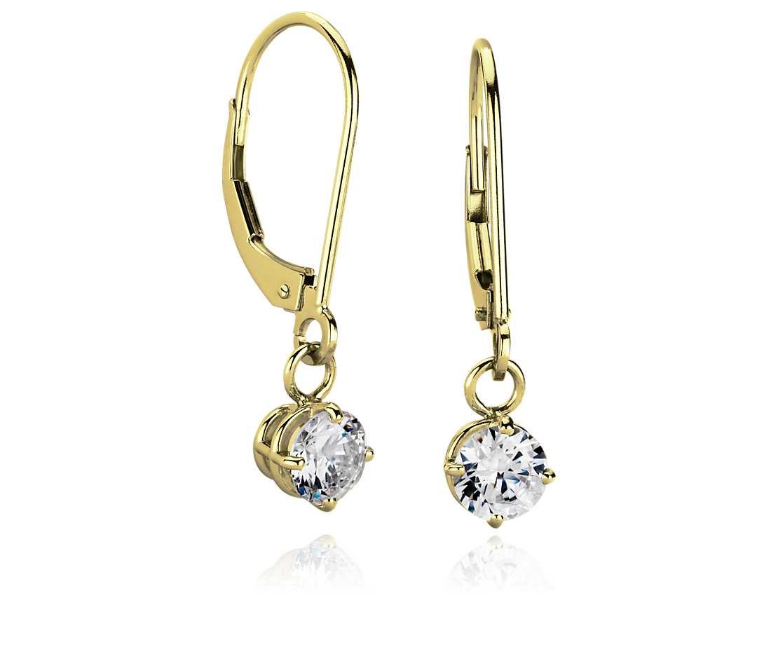 14k gold dangle earrings
