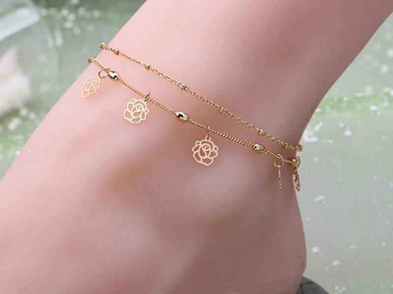 ankle bracelets gold