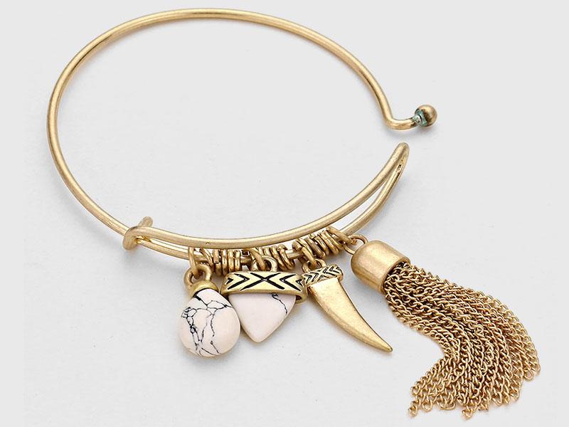 bangle bracelets with charms