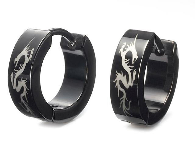 black diamond men's earrings