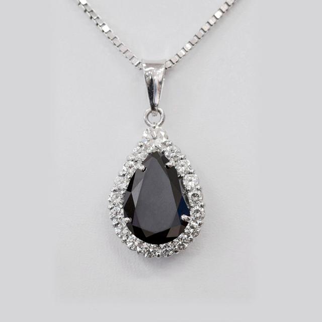 black diamond necklaces