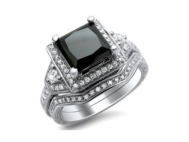 black diamond wedding rings