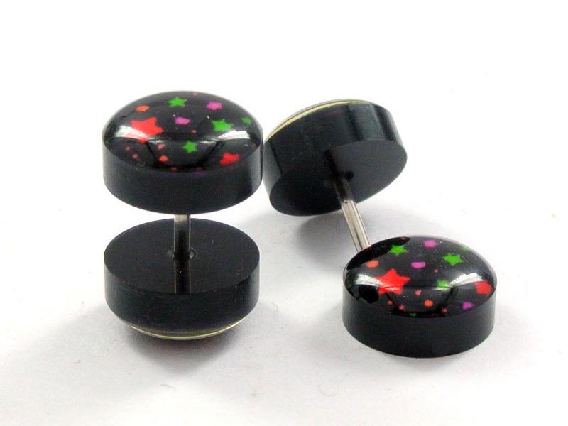 black men's stud earrings