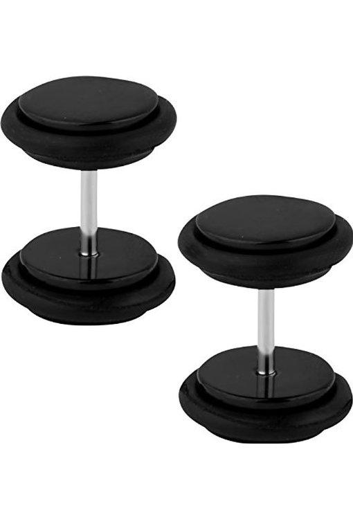 black titanium earrings