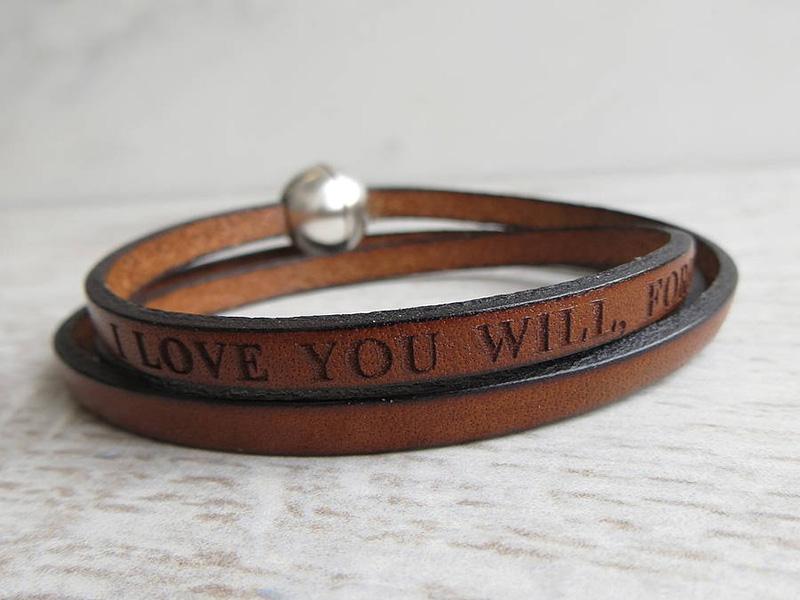 cheap men's leather bracelets