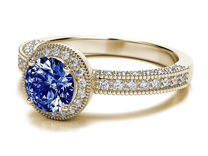 diamond and tanzanite rings
