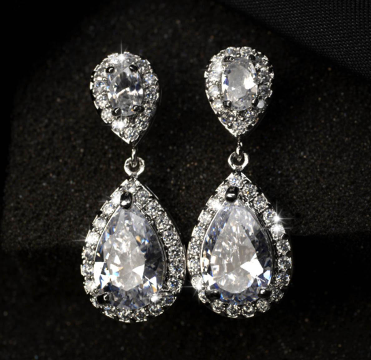 diamond dangle earrings