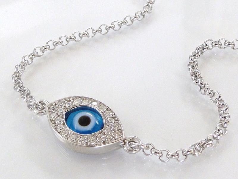 diamond evil eye bracelet