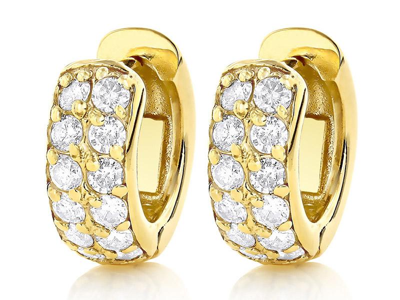 diamond hoop earrings gold