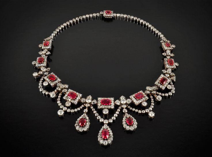 genuine ruby necklace