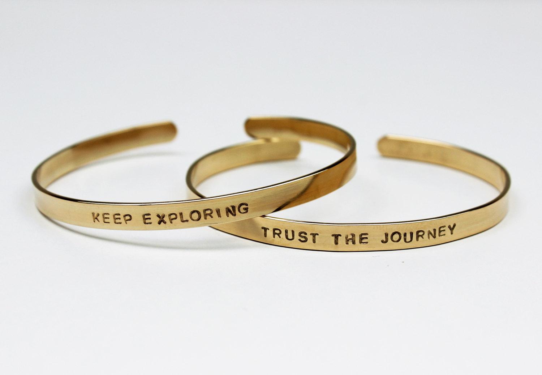 gold engraved bracelets