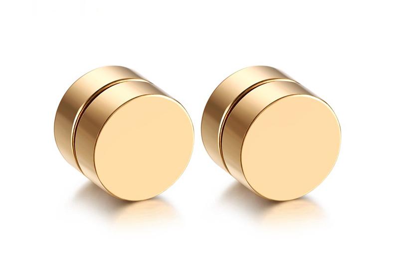 gold magnetic earrings