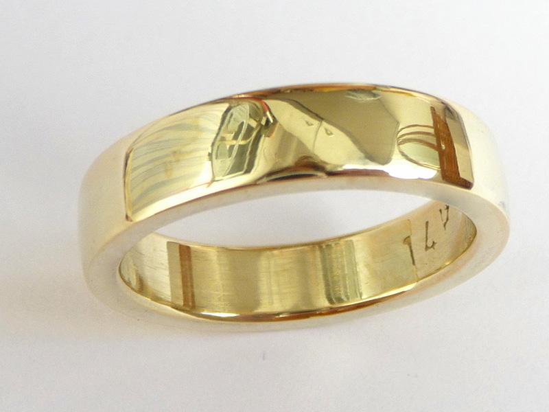 gold men's wedding rings