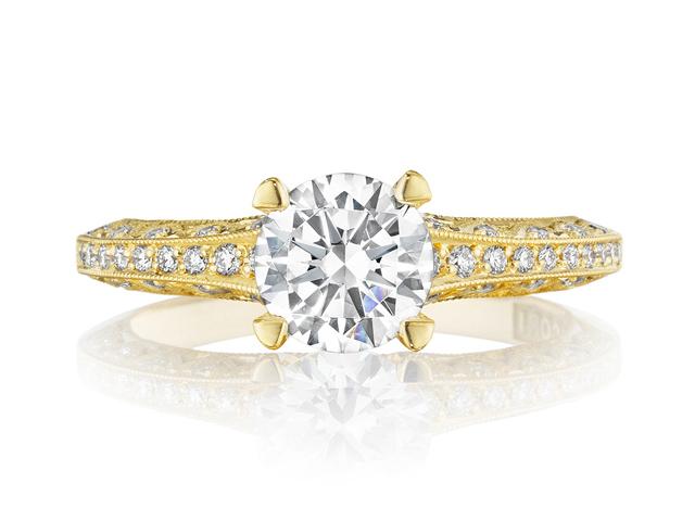 gold tacori engagement rings