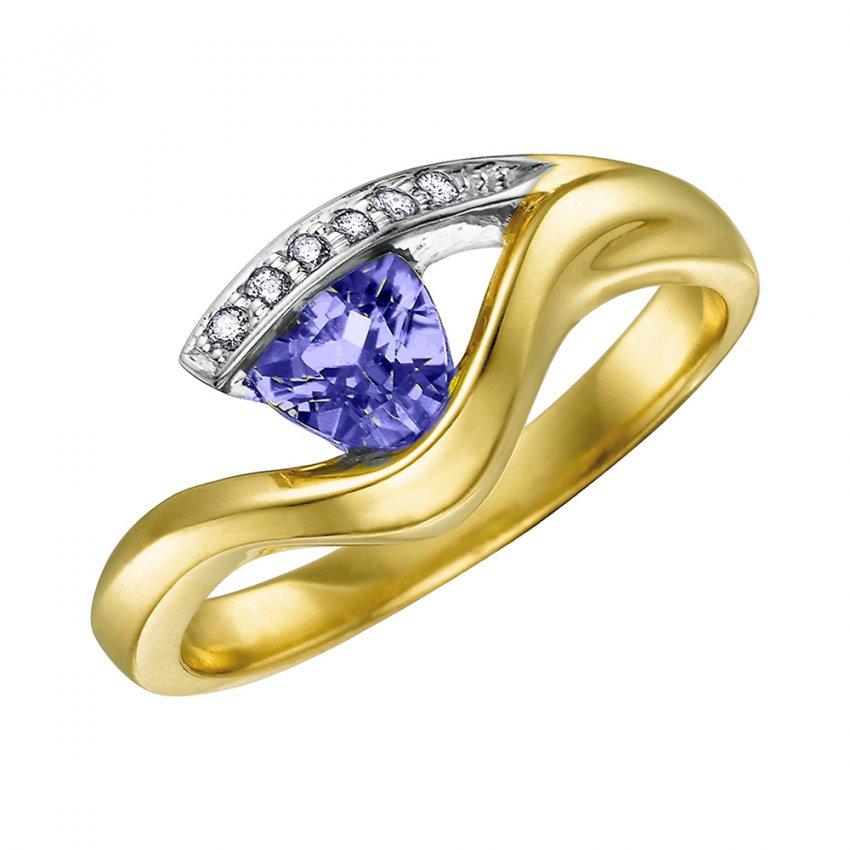 gold tanzanite rings