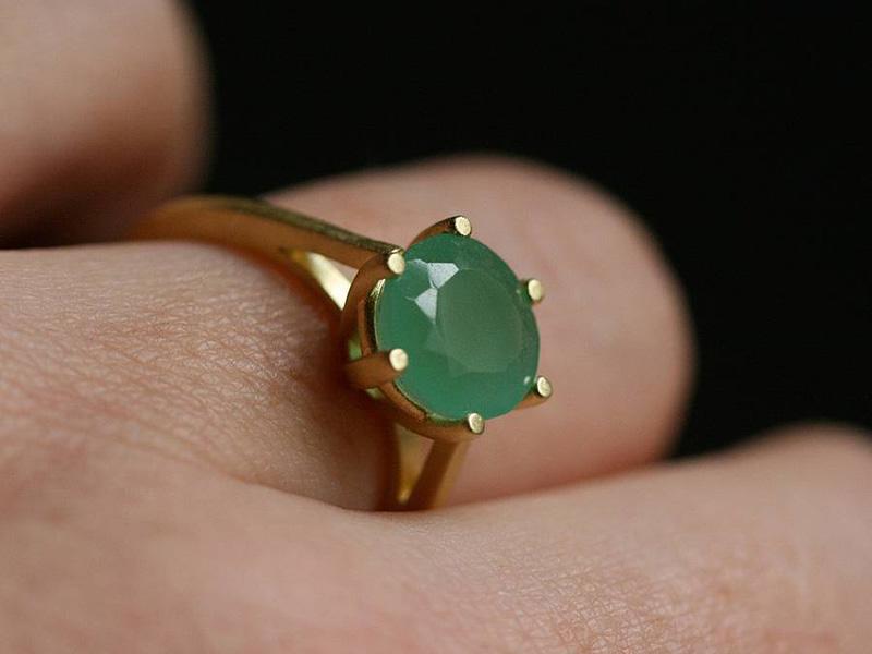 green gemstone rings