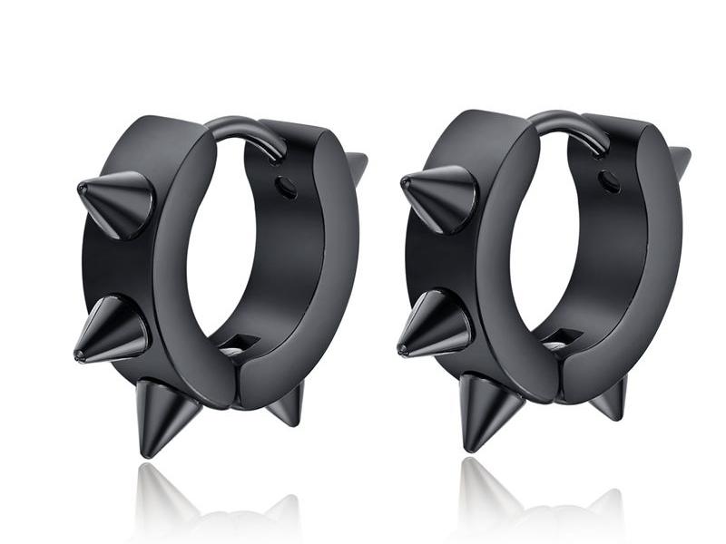 men's earrings black