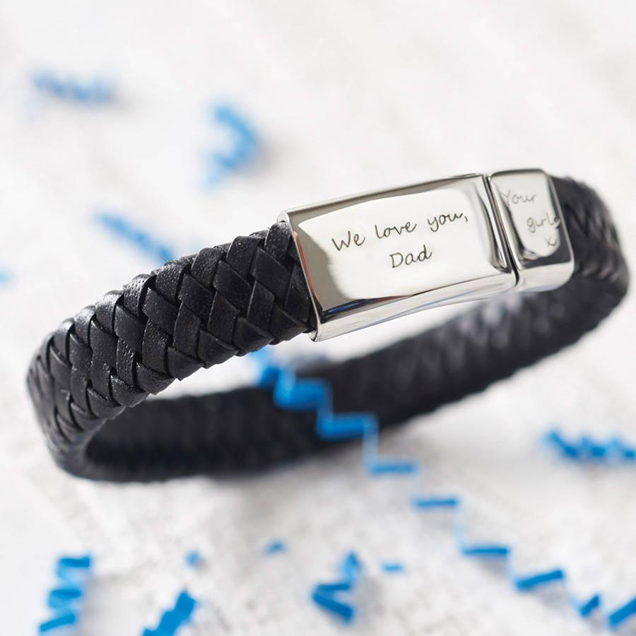 men's engraved bracelets